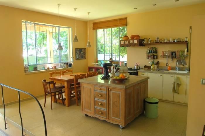 המטבח בנוי כאי נייד, המאפשר אינטראקציה חיונית בין הנוכחים, (צילום: איתי סיקולסקי)