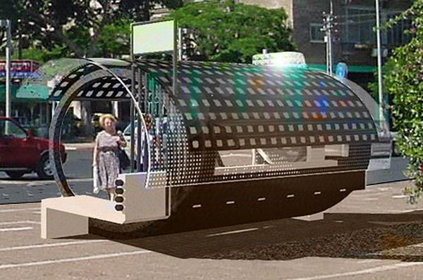 תחנת אוטובוס שקולטת אנרגיה סולארית(צילום: האתר הרשמי)