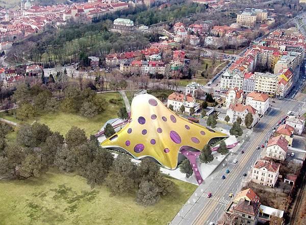 הספריה הלאומית שמתוכננת להיבנות בפראג</br>(צילום: האתר הרשמי)