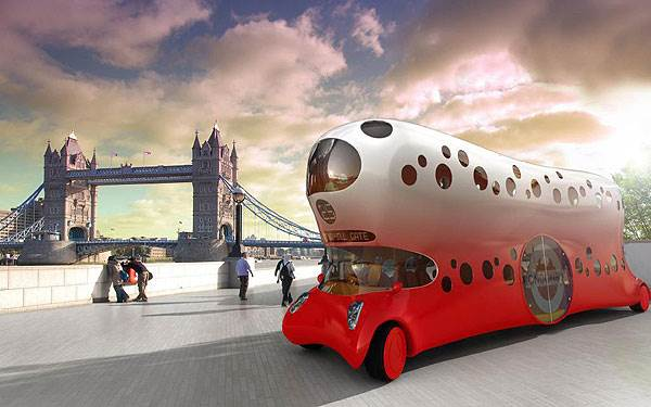 כך ייראה בעתיד האוטובוס הלונדוני על פי