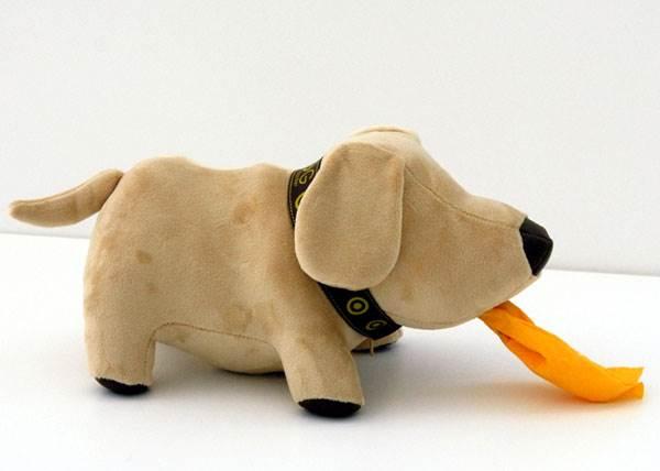 בובת כלב משעשעת לאחסון טישו,
