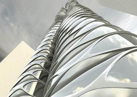 מגדל מגיאומטריה מורכבת, תערוכת פרפורמליזם , (הדמיית מחשב)