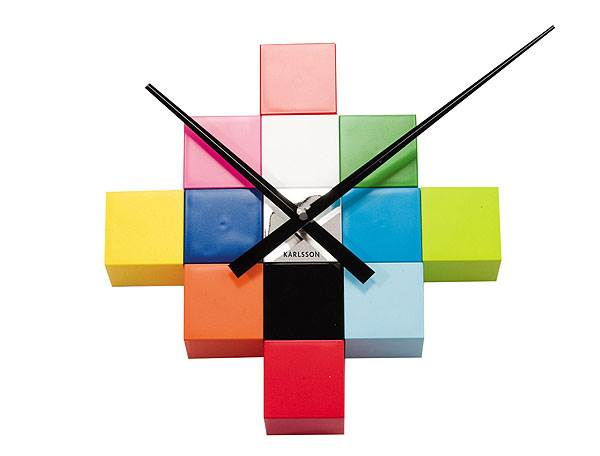 שעון פאזל מודרני וססגוני, ENTER<br/>(צילום: יח