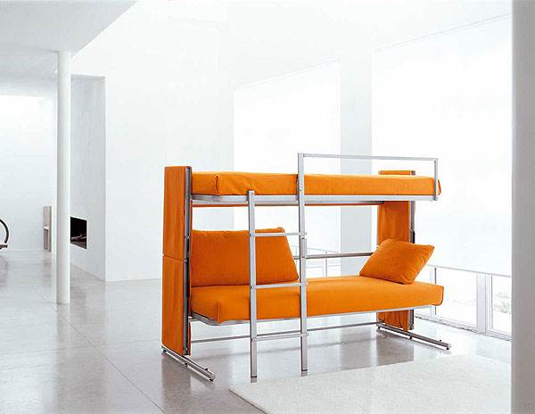 ספה יוקרתית שהופכת למיטת קומותיים נוחה, דגם Doc<br/>(צילום: יח
