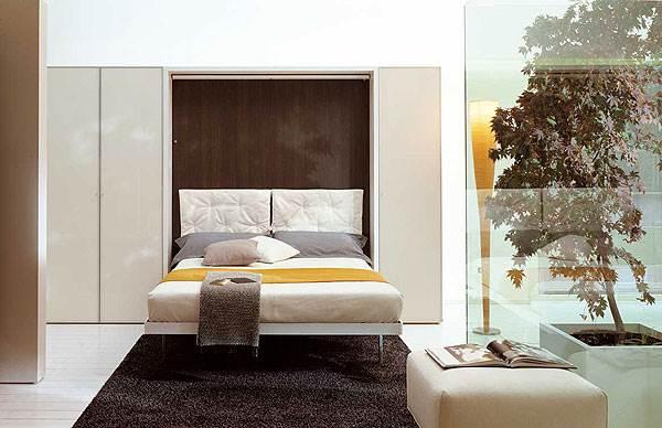 מיטה זוגית מפנקת שמתקפלת אל תוך הארון, דגם LGM,