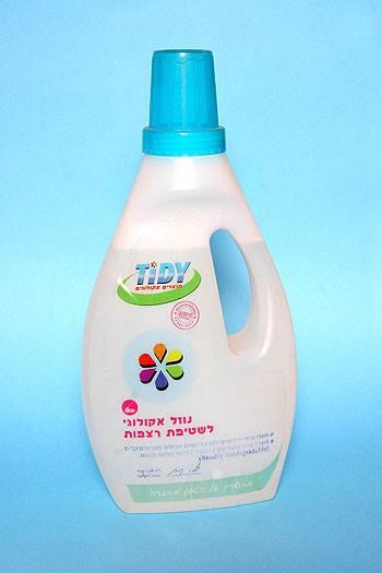 """נוזל אקולוגי לשטיפת רצפות, מבית """"טיידי"""" (צילום:יח""""צ)"""