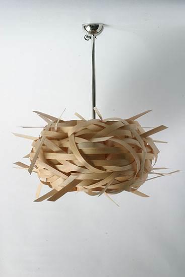 מנורת תקרה מבמבוק, אולטרה תאורה(צילום:יח