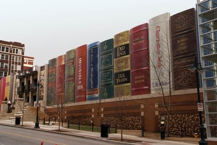 חניון הספריה הציבורית בקנזס מיזורי, (צילום: www.my.opera.com)