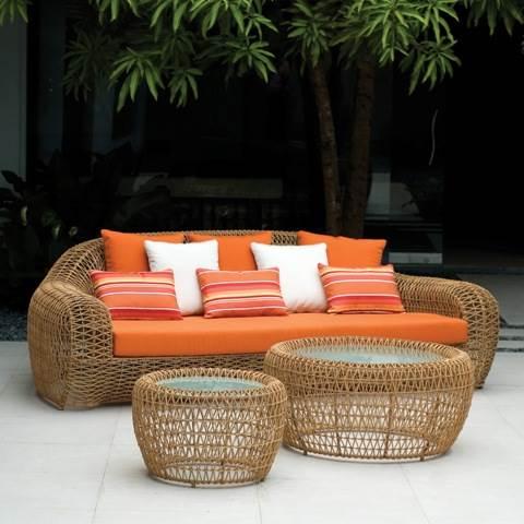 השימוש ברהיטי הרטאן מתאים ליצירת אווירה חמימה וביתית לצד עיצוב מודרני ונקי, SIAM, (צילום: יח