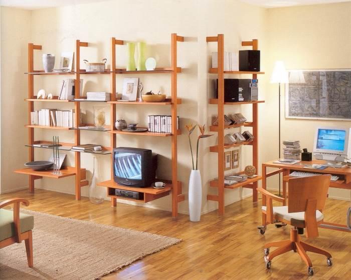חשוב להקפיד על תיאום וליצור מראה הרמוני בין סגנון הסלון לסגנון הספרייה,