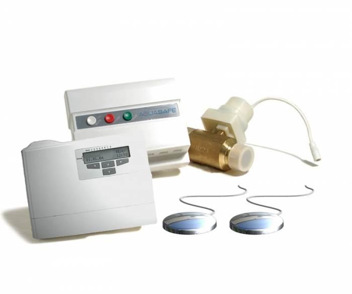 המערכת מורכבת מגלאי רטיבות, יחידת בקרה ושסתום חשמלי (צילום: יח