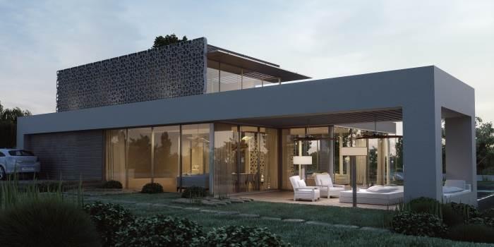 בית צמוד קרקע המשלב אלמנטים ירוקים, בתכנון רמה דותן וערן בינדרמן ל