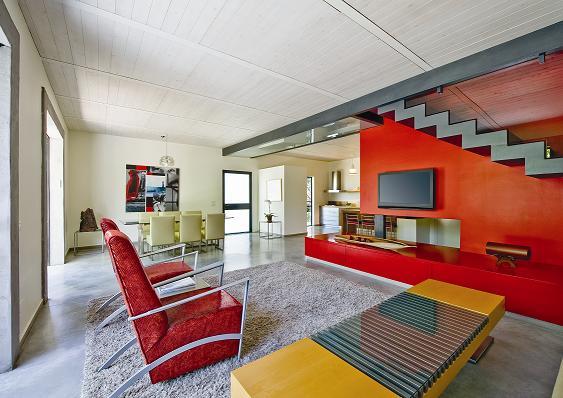 ביתו של המעצב יפרח בן צבי, מושב נופך, (צילום: שי אפגין)
