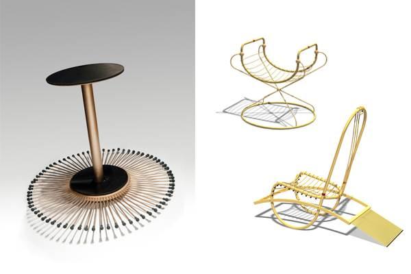 """כסאות הנדנדה של המעצב הבינלאומי אלון רזגור, (צילום: יח""""צ)"""