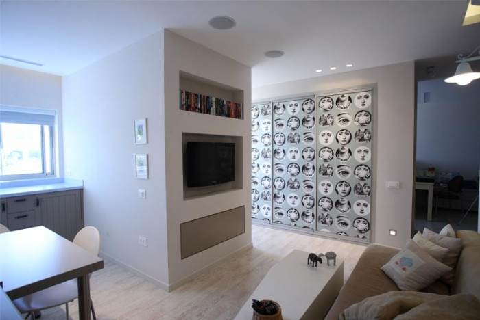 אגף נוסף בבית שכיום משמש כסטודיו לעבודה ובעתיד יוכל לתפקד כדירת שלושה חדרים עם כל התשתיות הנדרשות (צילום: רודי אלמוג)