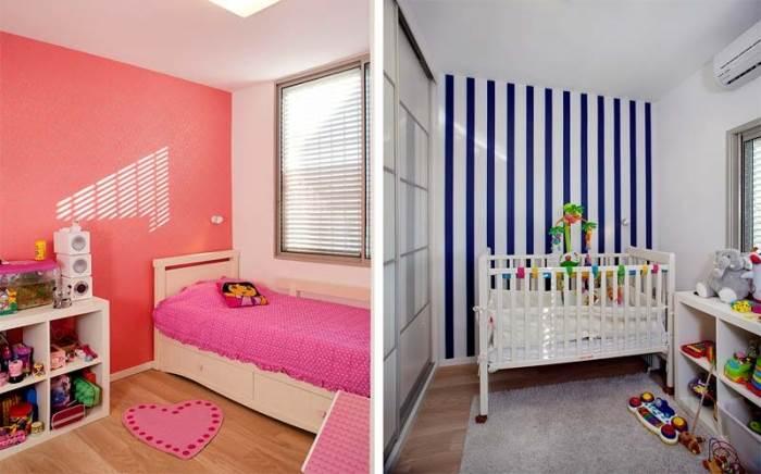 החלק הצבעוני והעליז בבית. חדרי הילדים לאחר השיפוץ (צילום: בנימין אדם)