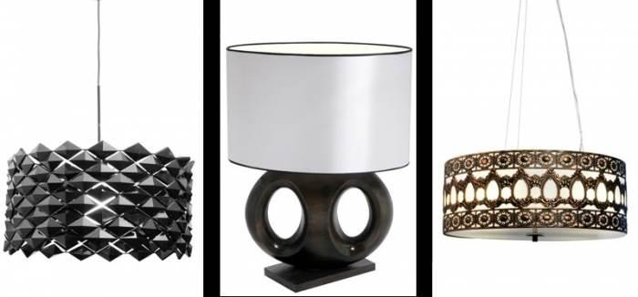 מימין: מנורת תלייה מדגם