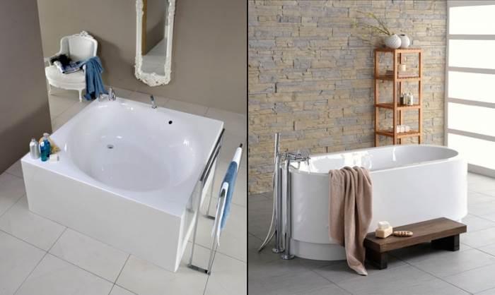 אמבטיה מרובעת או אליפטית של