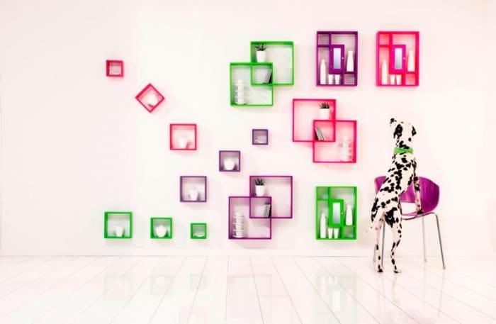 קוביות אחסון מודולריות בסגנון פופ ארט צבעוני של KARE DESIGN. עשויות MDF בגימור מעוגל או מרובע במגוון צבעים (צילום: יח