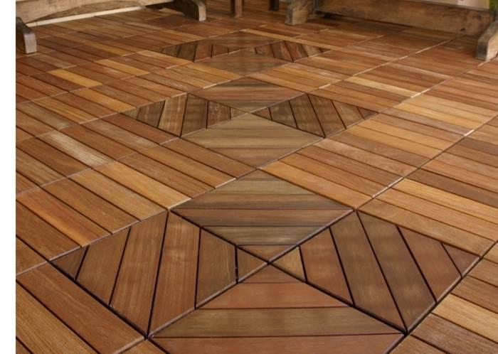 דק מעץ טיק מודולרי של חברת