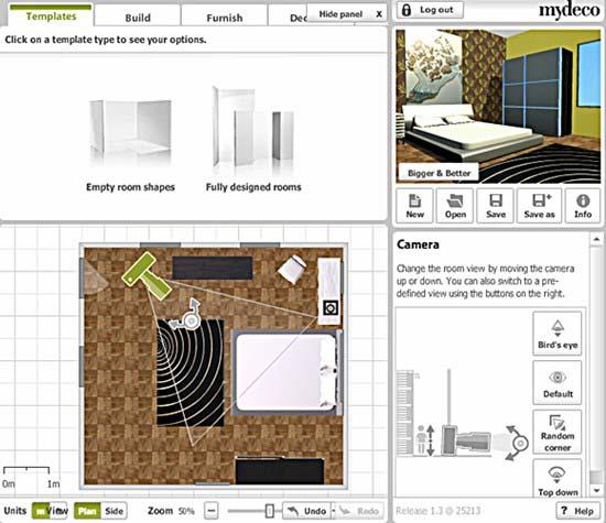 תוכנת העיצוב MY DECO. לא בטוחים איך ייראה הסלון עם ספת זמש חומה במרכזו? בואו לבדוק (צילום מסך)