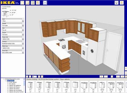 תוכנת עיצוב המטבחים של IKEA, תעזור לכם לבשל מטבח בטעם טוב (צילום מסך)
