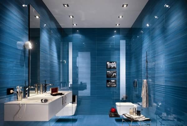 חדר אמבטיה כחול היה פופולארי בשנות ה-80 ולאחרונה חזר כרוח סערה לאופנה. עיצוב של