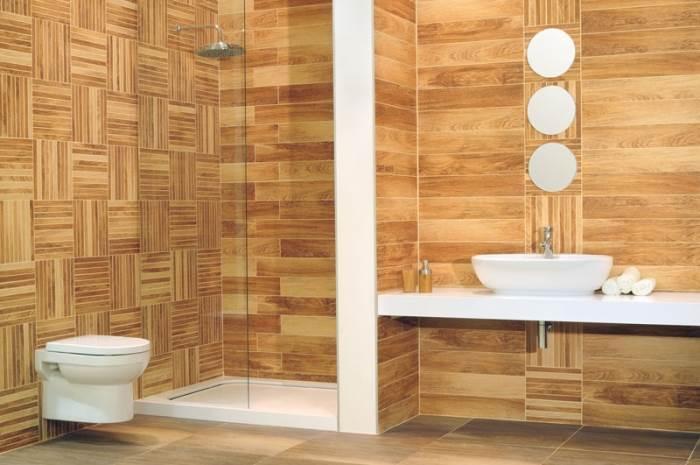 כדי שייראה כמה שיותר קרוב למראה של רצפת עץ אמיתי יש להתקין את האריחים בצורה של חומה ולא של מקבילים. אריחי גרניט דמויי פרקט של רשת