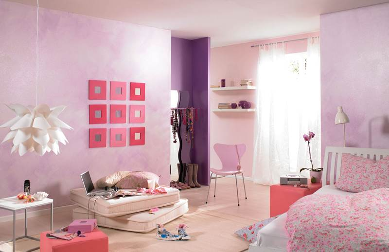 בנות מתוחכמות יודעות מה הן רוצות. חדר סגול (צילום: טמבור)