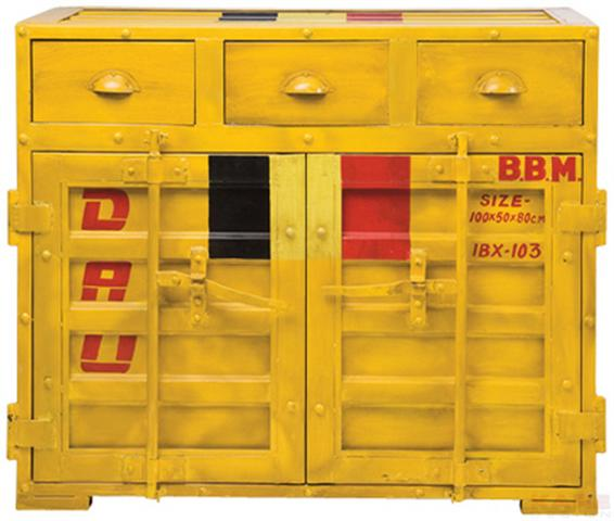 מזנון צהוב של קארה דיזיין- גם צהוב וגם במראה וינטאג