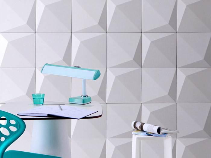 אריחי בטון תלת מימדיים דגם 001. מראה מודרני ומתוחכם לחלל הבית.