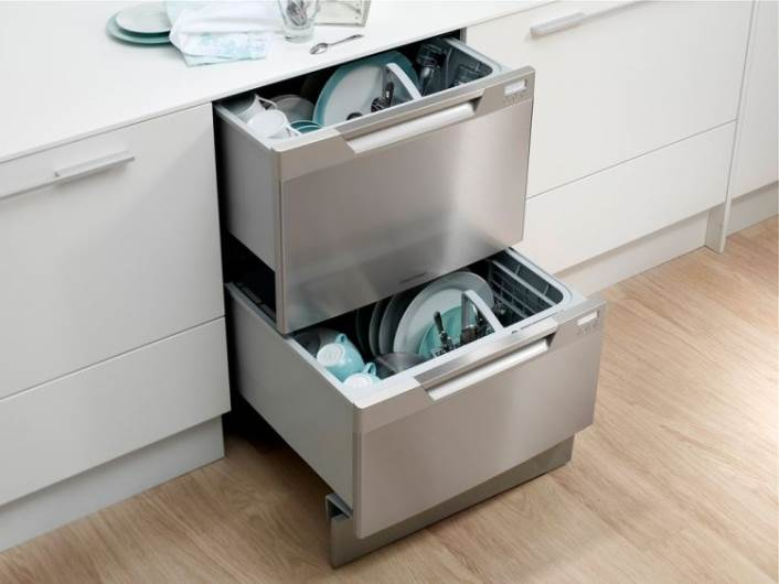 מדיח כלים המובנה במגירה. ניתן לרכישה בתצוגות בלורן