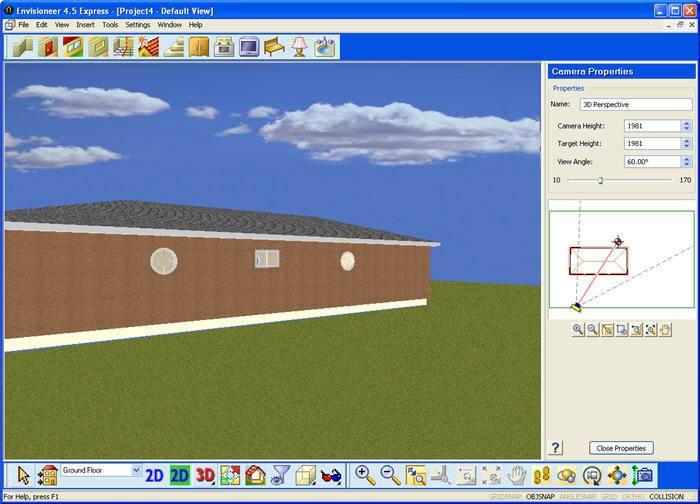 מבט תלת מימדי על כל שלב בעיצוב- Envisioneer Express (צילום מסך)