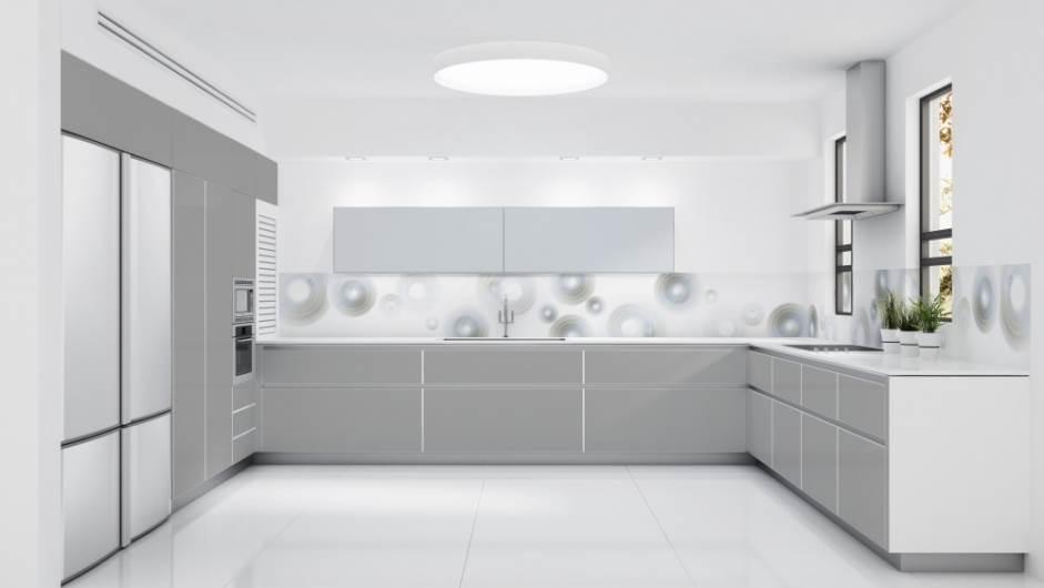 חיפוי זכוכית למטבח של בלורן במראה של אדוות לאוהבי עולם המים. צילום: יח