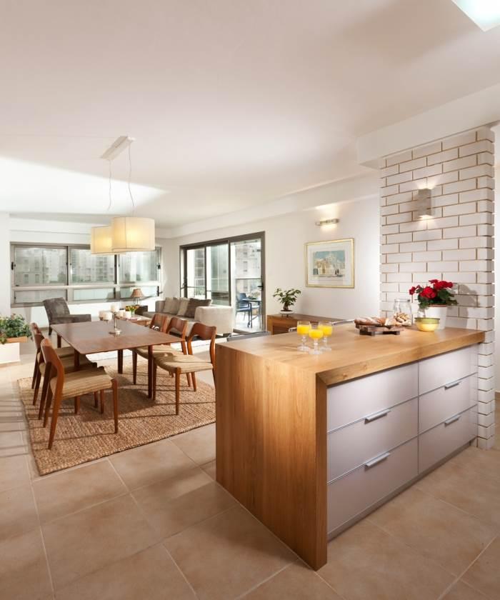 דירה מרווחת בסגנון קלאסי ביתי בעיצוב הגר פאר