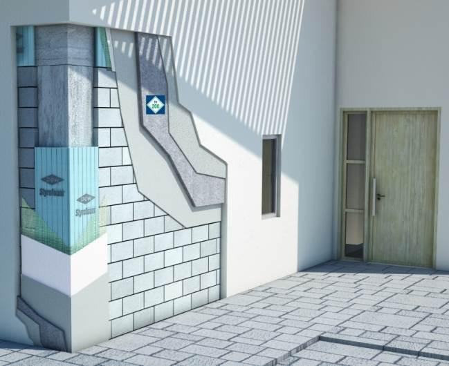 חומרים ממוחזרים ונקיים מרעלים לשמירה על הסביבה: מודל של קיר. צילום: יח