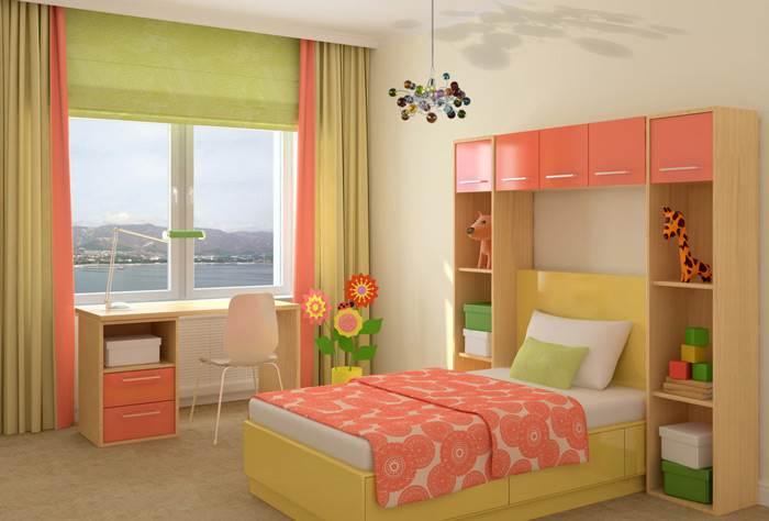 צבעוניות שובבה בחדר הילדים - גוף תאורה תלוי (הדמיה)