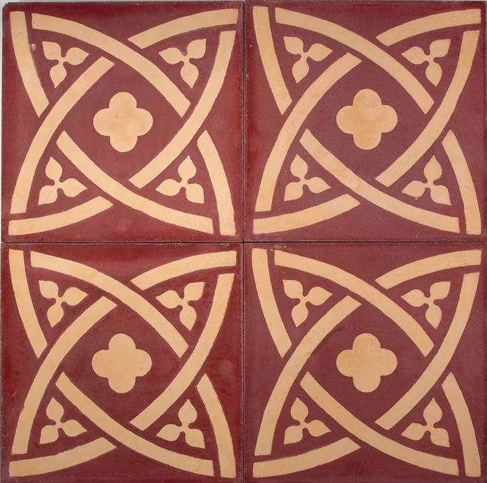אריחים מרוקאים מצויירים לריצוף מסדרת ZILLEJ של ויה ארקדיה