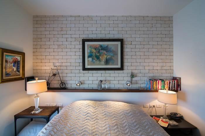 חדר שינה מעוצב בעיצובה של דורית רגב