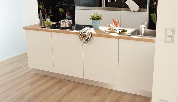 בלי חששות במטבח: פרקט לחדרים רטובים. צילום: יח