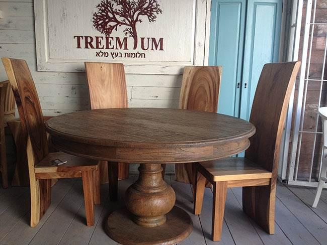שולחן אוכל עגול - treemium. צילום: יח