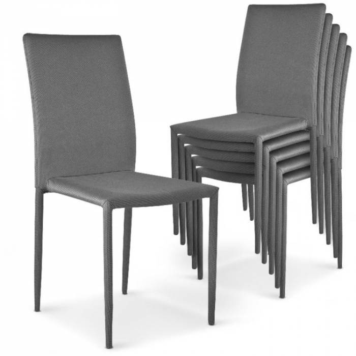 מודולרי וחסכוני: סט 6 כסאות נערמים ומעוצבים, דגם