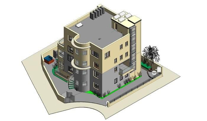 הוגשו תוכניות להיתר בנייה- תוספת שתי קומות על שתי קומות קיימות.
