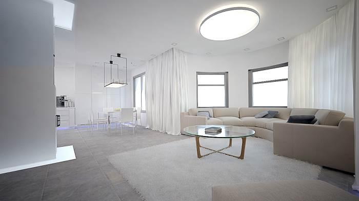 תוספת הבנייה פתחה נוף פנורמי חדש לירושלים והכניסה הרבה אור ואויר צלול אל תוך הבית.