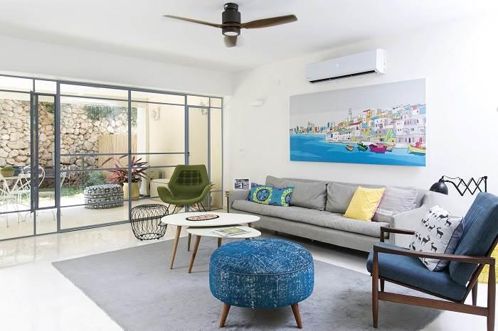 עיצוב בית בצפון תל אביב- מבט אל הסלון. צילום: שירן כרמל
