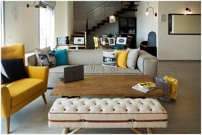 טיפים לעיצוב הבית- שילוב פריטים בצבע שונה |צילום איה אפרים