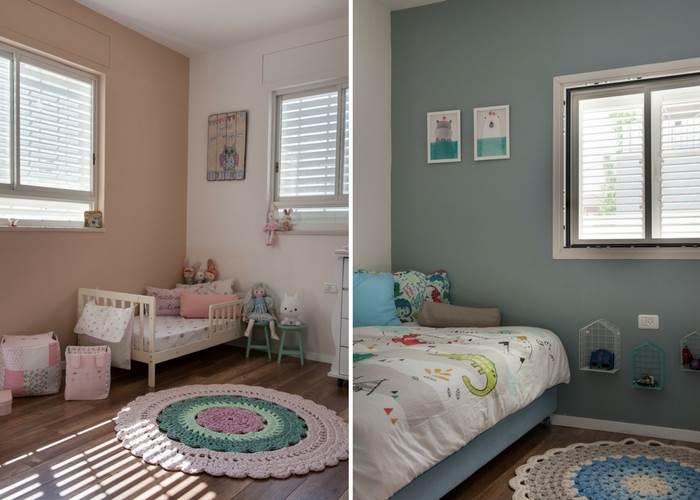 חדרי השינה של הילדים | צילום: אורית אלפסי