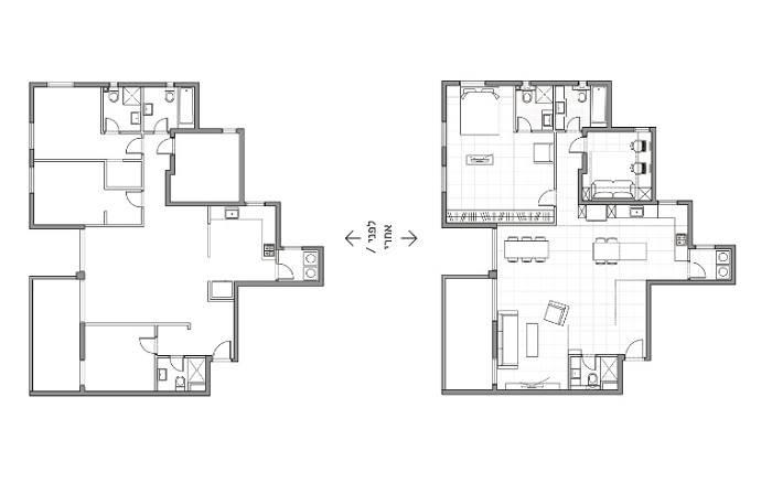 תוכנית לשינוי חללים של משרד האדריכלים