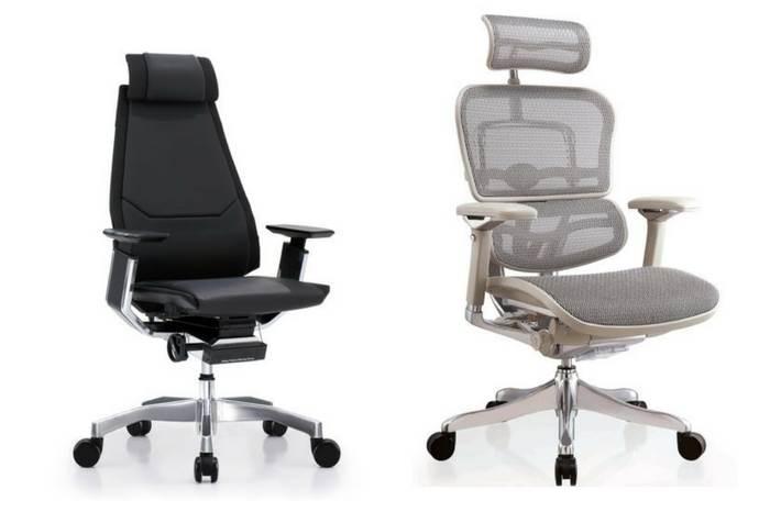 גובה הכיסא- גובה הכיסא אמור להיות מותאם לגובה המשתמש ולגובה השולחן ועליו להיות בעל מנגנון הרמה והורדה פשוט וקל. לכיסא צריך להיות גם מנגנון סנכרוני ששומר על זווית ישיבה נכונה המחלקת את העומס על חוליות הגב באופן שווה.