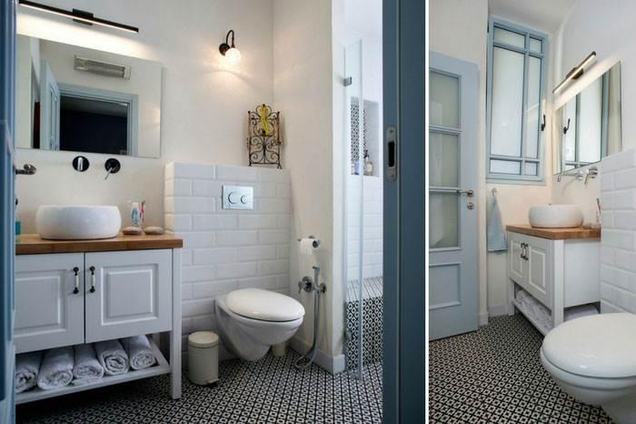 בחדר הרחצה של ההורים ביקשה וינר ליצור שתהיה של חדר אמבטיה שונה, באווירת בית מלון מעט מלכותי